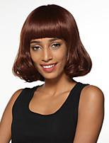-Top atado pelucas llenas explosión elegante de moda sin tapa cabello humano Remy mano