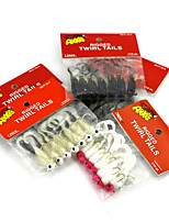 4.42cm 1.75g/PC Multicolor Soft Bait Hooks Lures Fishing Tackle Hook Barb Hooks Set 4 Colors