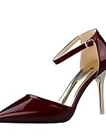 Women's Shoes Leatherette Stiletto Heel Heels Heels Casual Black / Pink / Red / Silver / Burgundy