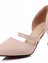 Women's Shoes Leatherette Stiletto Heel Heels Heels Outdoor / Office & Career / Dress Black / Pink / Almond