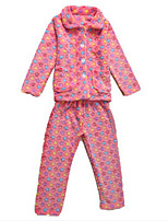 Girl's Pink Clothing Set Cotton Winter / Spring / Fall