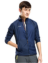 KORAMAN Men's Solid Color Lightweight Jacket UV Protect+Quick Dry Windproof Skin Coat