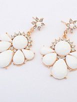 New American Fashion Simple Flower Pierced Drop Earrings Women Accessories
