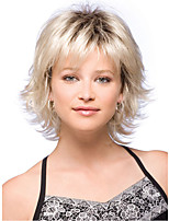 Women Curly Synthetic Hair Wig Beige