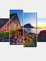 Moderno Impresión de la lona Cuatro Paneles Listo para colgar,Horizontal