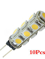 10x G4 5050 SMD 13 LED Pure White Warm White Car Marine(DC 12V)