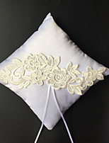 Ring Pillow Satin Beach Theme / Garden Theme / Asian ThemeWithRibbons / Embroidery