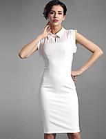 Baoyan® Women's Peter Pan Collar Sleeveless Knee-length Dress-160010