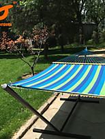 SWIFT Outdoor® New Hammock with Canvas Fabric Double Spreader Bar Patio Double Hammock Bed