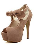 Chaussures Femme-Mariage / Bureau & Travail / Habillé / Décontracté / Soirée & Evénement-Amande-Gros Talon-Talons / Bout Ouvert /