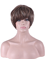 Women Bobo Short Straight Synthetic Hair Wig Dark Brown