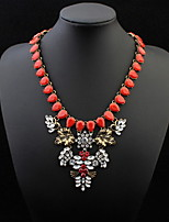 4 Colors Statement Fashion Personality Water Drops Necklace for Women