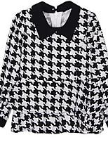 Girl's Black Shirt,Check Cotton Winter / Fall