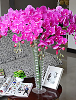 Nine Heads Silk Purple Phalaenopsis Artificial Flowers 1pc/set