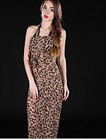 L.WEST Women Leopard Chiffon Scarf Beach Towels