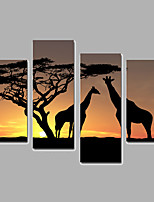 Animal / Landscape Canvas Print Four Panels Ready to Hang,Any Shape(No Frame)