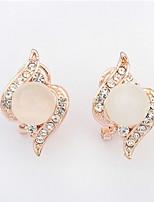 Top Promotion Women's / Couples' / Unisex Trendy Jewelry Opal Rhinestone Full Zirocn Alloy Stud Earrings