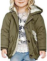 Girl's Green Jacket & Coat Cotton Winter