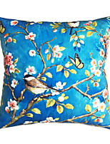 New Design Print Blue Bottom Birds Decorative Throw Pillow Case Cushion Cover for Sofa Home Decor Soft Material