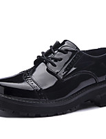Women's Shoes Leather Wedge Heel Wedges / Gladiator Oxfords Office & Career / Dress / Casual Black