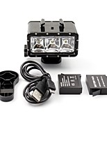 Professional Camera Waterproof 3-LEDS Night Diving Fill Light For Gopor hero 3/3+/4/SJ4000/xiaoyi(Include Two Batteries)