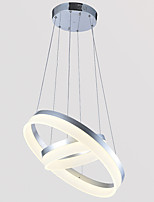 Contemporary LED Pendant Light Ceiling Lamps Chandeliers Lamps Fixtures with 2ring D4060CM 45W CE FCC ROHS