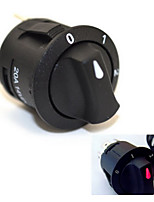 Jtron 14V 20A Third Gear Rotary Switch with Red LED Indicator - Black