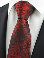 Dark Red Burgundy Gradient Swirl Paisley Men's Tie Necktie Wedding Gift KT0046