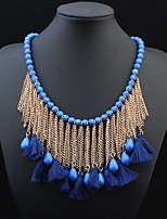 Bohemian Necklace for Women 2016 Tassel Vintage Multilayer Collar Necklace Choker Chain Statement Necklace Pendants