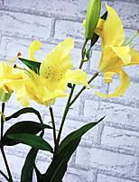A Branch Silk Lilies Artificial Flowers Multicolor Optional 1pc/set