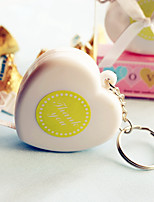Measure Up Some Love Heart Tape Measure Keychain baby shower Favors