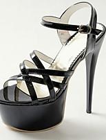 Chaussures Femme-Habillé / Décontracté / Soirée & Evénement-Noir / Rouge / Blanc-Talon Aiguille-Talons / Bout Ouvert / A Plateau / A