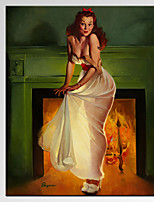 VISUAL STAR®Charming Pin up Girl Sexy Lady Canvas Wall Art for Pub Decoration Ready to Hang