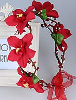 Women's Fabric Headpiece-Wedding / Special Occasion / Casual / Outdoor Wreaths 1 Piece
