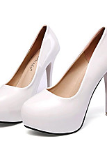 Women's Shoes Leatherette Stiletto Heel Heels Heels Wedding / Party & Evening Black / Red / White