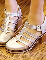 Women's Shoes Chunky Heel Heels/Sling back/Gladiator/Round Toe Sandals Dress/Casual Black/Pink/Beige