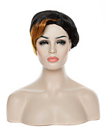 Capless Synthetic Hair Wig Short Curly Wigs  Black Woman 's Wig  Suit for Party