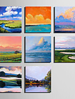 E-HOME® Stretched Canvas Art Landscape Scenery Series Decoration Painting MINI SIZE One Pcs