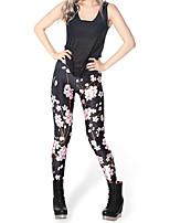 Women Print Legging,Polyester / Spandex Medium