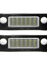 2PCS F-ord M-K5/Mondeo LED License Plate Lamp 14W 3528SMD LED with Special LED Decorder