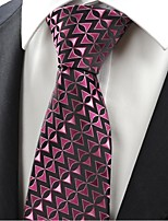 Purple Violet Black Arrow Novelty Men's Tie Necktie Wedding Holiday Gift KT0061