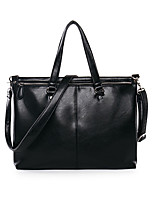 Men PU Doctor Shoulder Bag / Tote / Laptop Bag-Black