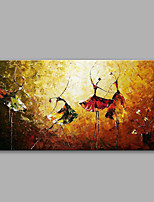 Handpainted Ballet Sinfonietta Picture, Modern Abstract Oil Painting on Canvas Wall Art for Home Decoration No Frame
