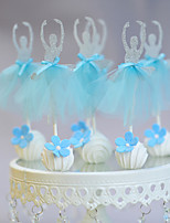 Wearing a blue dress dancing girl Pops
