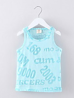 2016 New Children's Clothing Male Female Child Fashion Cartoon Sleeveless Vest T-shirt Child Casual Top Brand Clothes