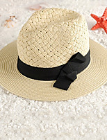 Women Straw Bow Beach and Jazz Hat,Cute / Party / Casual Spring / Summer / Fall