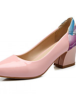 Women's Shoes Leatherette Chunky Heel Heels Heels Office & Career / Dress / Casual Green / Pink / White