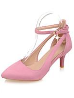 Chaussures Femme-Bureau & Travail / Soirée & Evénement-Noir / Rose / Beige-Talon Aiguille-Talons / D'Orsay & Deux Pièces / Bout Pointu /