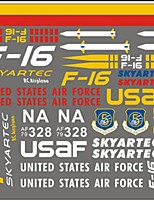 Skyartec RC Airplane F16 Spare Parts sticker (F16-09)