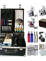 Basekey Tattoo Kit 3 Guns JHK083 Machine With Power Supply Grips Cleaning Brush Ink Needles
